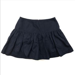 J Crew Navy Swish Skirt Size 4